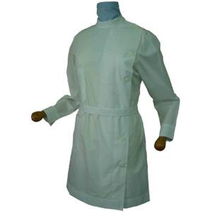 WOMAN'S ASYMMETRICAL LAB COAT LONG SLEEVE-SHORT SLEEVE G130