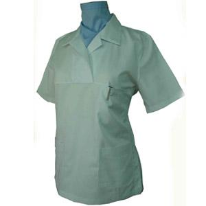 WOMAN'S CROSSOVER SCRUB TOP OPEN COLLAR X 160
